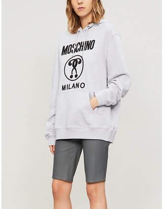 Moschino Logo-print cotton-jersey hoody