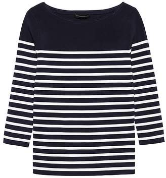 Banana Republic Stripe Boat-Neck Sweater