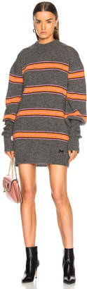 MSGM Striped Oversized Sweater