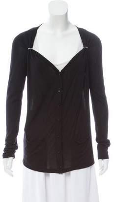 Jean Paul Gaultier Soleil Gathered Long Sleeve Cardigan w/ Tags