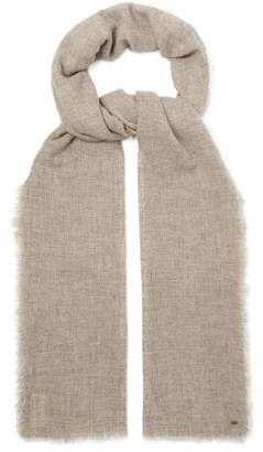 From The Road - Pari Wool Blend Scarf - Mens - Grey