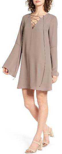 Women's Soprano Lace-Up Shift Dress