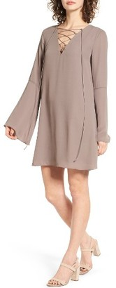 Women's Soprano Lace-Up Shift Dress $49 thestylecure.com