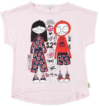 Little Marc Jacobs Printed Cotton Blend Jersey T-Shirt