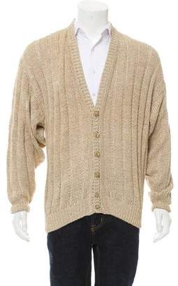 Barneys New York Barney's New York Wool Rib Knit Cardigan