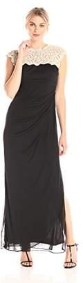 Alex Evenings Women's Petite Metallic Cutout Lace Dress