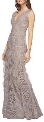 Bcbgmaxazria Aislinn Geometric Lace Gown $528 thestylecure.com