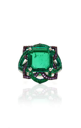 Arunashi One-Of-A-Kind Square Emerald Ring