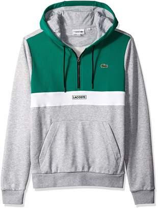Lacoste Men's Sport Long Sleeve Color Blocked Logo Half Zip Hoodie