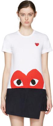Comme des Garçons Play White Half Heart T-Shirt $120 thestylecure.com