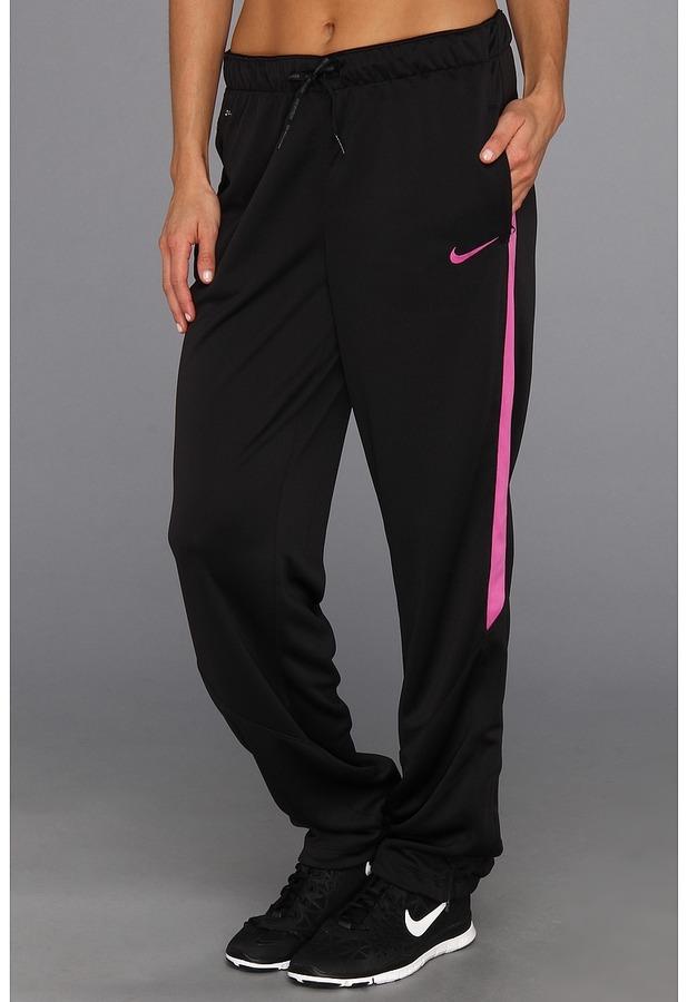 Nike Academy Sideline Knit Pant (Black/Black/Club Pink/Club Pink) Women's Casual Pants