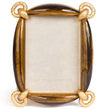 "Jay Strongwater Blaine Tiger Eye Picture Frame, 3"" x 5"""