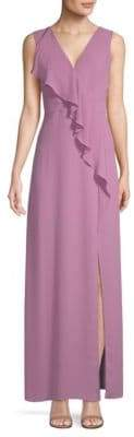BCBGMAXAZRIA Long Ruffle Dress