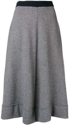 N.Peal flared knitted skirt