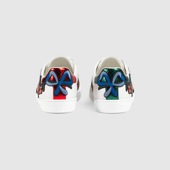 Ace embroidered low-top sneaker 2