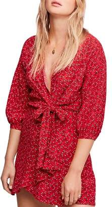 Free People Clara Floral Tie-Waist Tunic