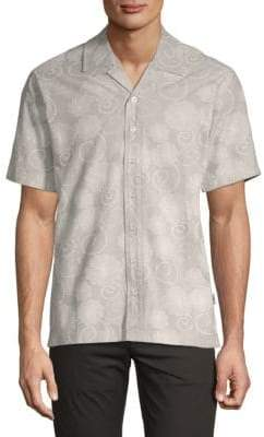 Publish Coen Short-Sleeve Cotton Button-Down Shirt