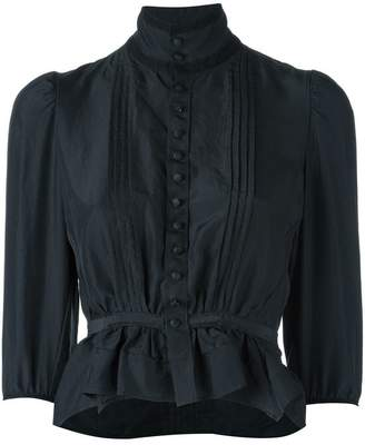 DSQUARED2 'Victorian' high collar blouse
