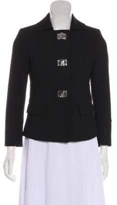 Versace Peak-Lapel Long Sleeve Jacket