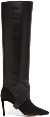 Jimmy Choo Hurley two-piece knee-high boots