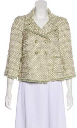Chanel Polka Dot Double-Breasted Jacket