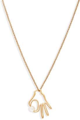 Madewell Hand Jive Pendant Necklace