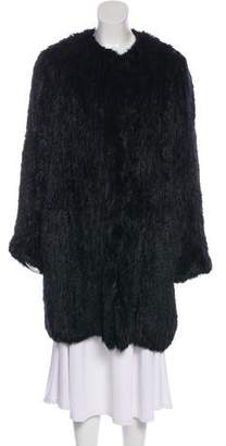 Yves Salomon Meteo x Fur Knee-Length Coat