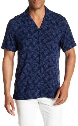 Toscano Short Sleeve Floral Print Woven Shirt