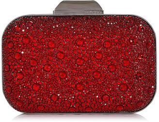 Jimmy Choo CLOUD Red Crystal Covered Clutch Bag