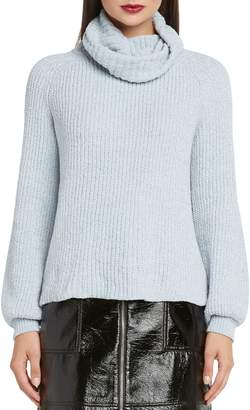 Willow & Clay Bloused Sleeve Chenille Turtleneck Sweater