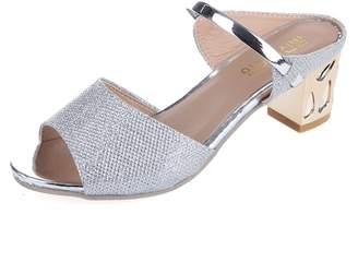d445ad586 at Amazon Canada · Bohemia Baynne Women Heeled Sandals High Heels 5.5CM  Open Toe Mid Heel Sandals Bridal Party