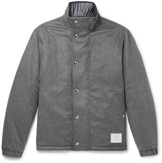 Thom Browne Reversible Felted-Cotton and Shell Down Jacket - Gray