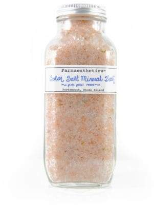 Farmaesthetics Pink Petal Roses Solar Salt Mineral Bath/16 oz.