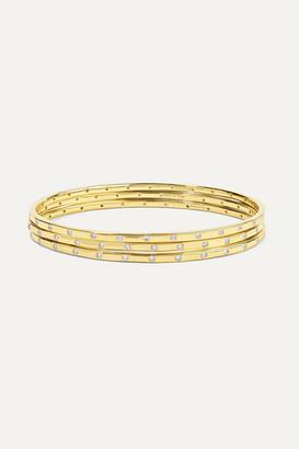 Ippolita Senso Set Of Three 18-karat Gold Diamond Bangles - one size