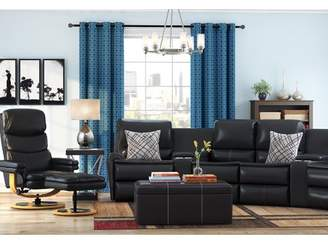 Latitude Run Yonkers Leather Reclining Sectional