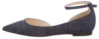 Jimmy Choo Semi-D'Orsay Ankle Strap Flats w/ Tags