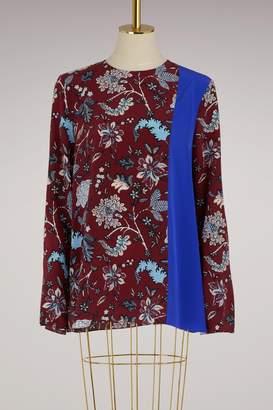 Diane von Furstenberg Side-slit silk blouse