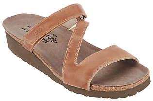 Naot Footwear Leather Asymmetrical Strapped Slide SandalGabriela