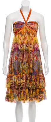 Jean Paul Gaultier Soleil Printed Midi Dress