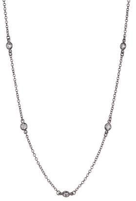 Freida Rothman Sterling Silver CZ Station Necklace