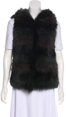 Yves Salomon Fur Hooded Vest