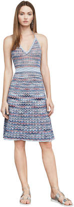 BCBGMAXAZRIA Jenn Chevron A-Line Dress
