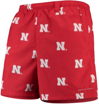 "Columbia Unbranded Men's Scarlet Nebraska Cornhuskers PFG Backcast II 6"" Omni-Shade Team Hybrid Shorts"