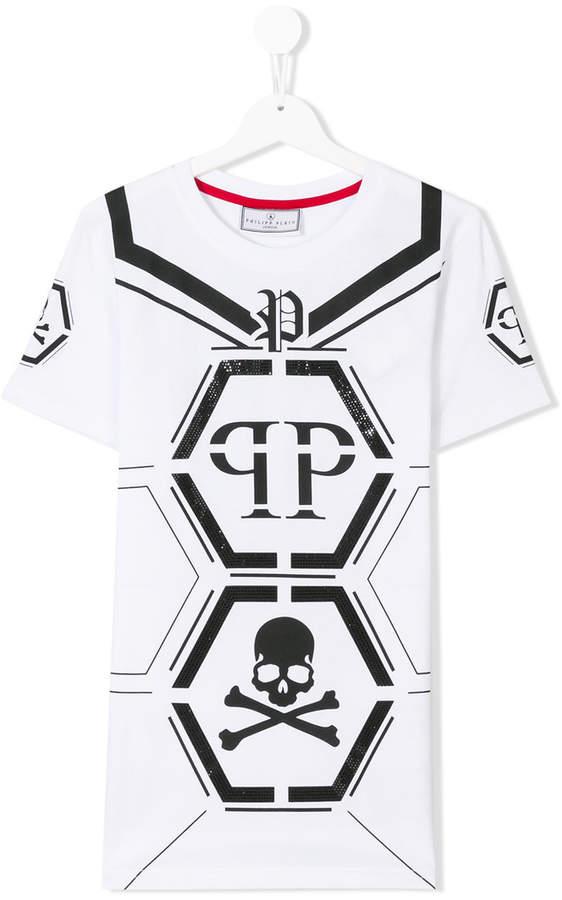 Philipp Plein Junior T-Shirt mit Logo-Print