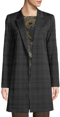 Lafayette 148 New York Mattia Plaid Crepe Jacket