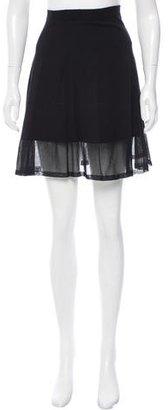 Sandro Fine Knit A-Line Skirt $70 thestylecure.com