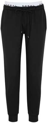 Koral Activewear Station Black Terry Jogging Trousers