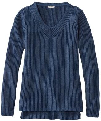 L.L. Bean Women's L.L.Bean Shaker-Stitch Sweater, V-Neck Pullover
