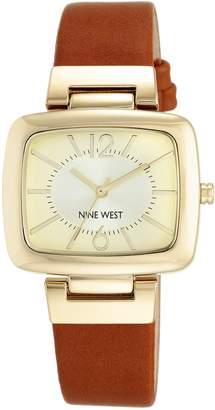 Nine West Women's NW/1840CHHY Analog Display Japanese Quartz Brown Watch