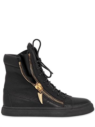 Giuseppe Zanotti 20mm Calf Leather High Top Sneakers